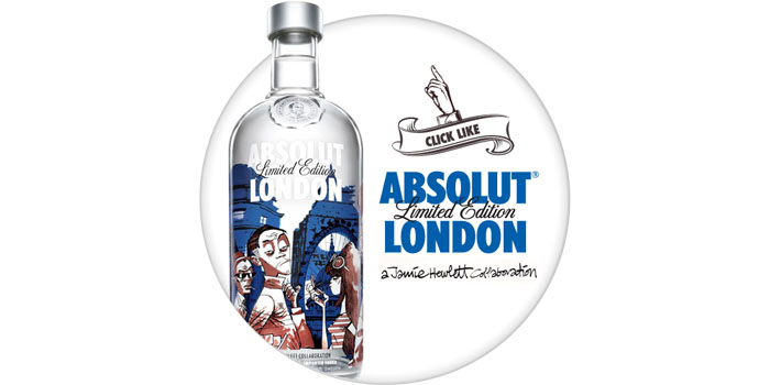 "ABSOLUT Vodka x Jamie Hewlett 聯名 ""ABSOLUT LONDON"" 系列伏特加"