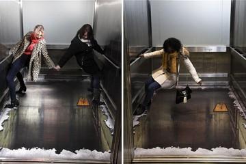 Alton Towers 無底電梯:嚇人的 3D 塗鴉