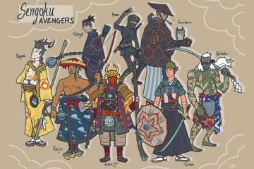 日本武士版 復仇者聯盟