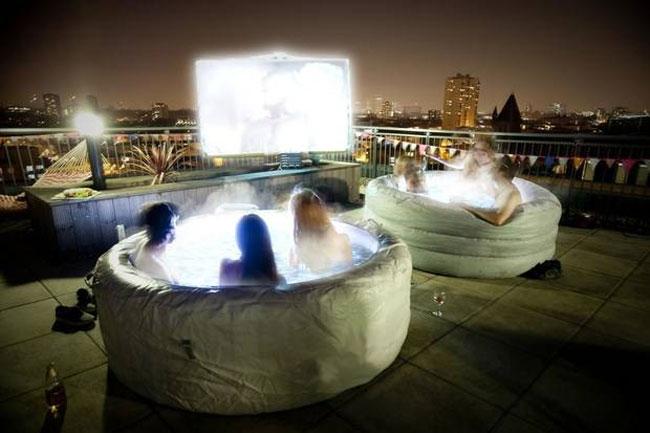 """邊嘆熱水浴邊觀影!""""Hot Tub Cinema""""登陸倫敦 4"""