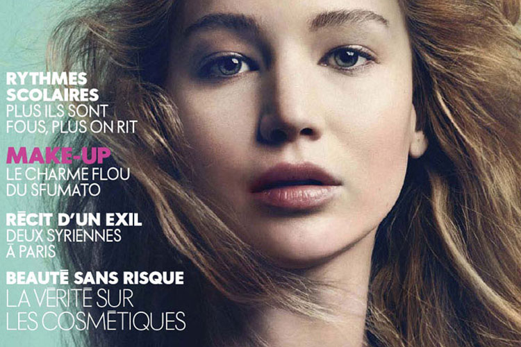 Jennifer Lawrence 登上《Elle》法國版10月號