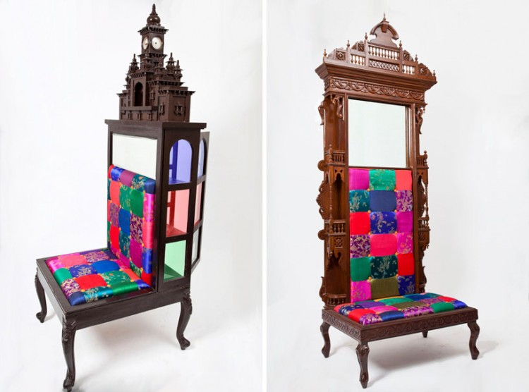 aparna repurposes salvaged antiques into whimsical chairs 2