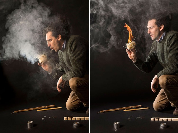 francesco faccin manually produces flame with re fire kit 1