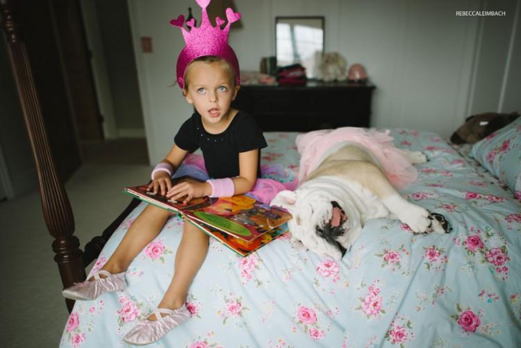 小女孩與英國鬥牛犬的生活點滴 4