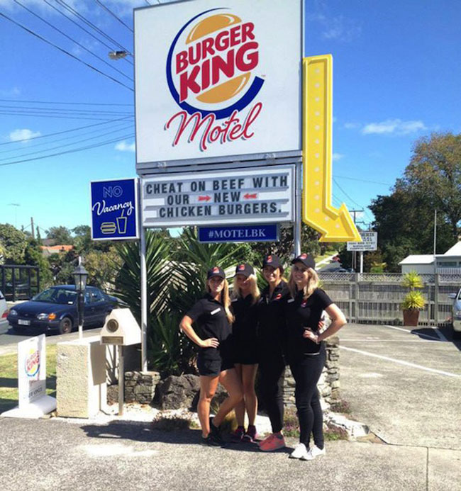 In New Zealand, A Pop-Up Burger King Motel Where You Can Eat Its New Burger 2