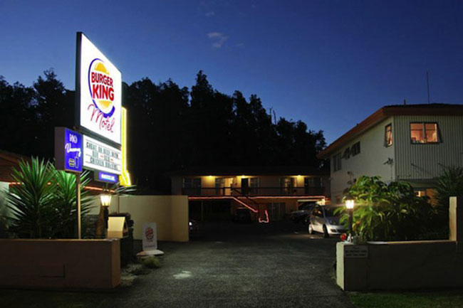 In New Zealand, A Pop-Up Burger King Motel Where You Can Eat Its New Burger 3