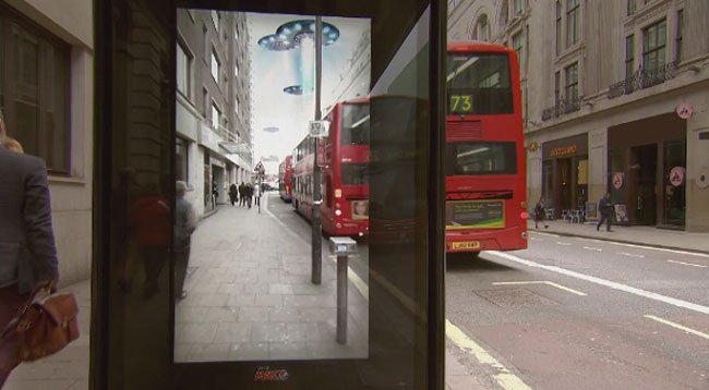 Pepsi Pranks People At A Bus Stop With A Digital Billboard 1