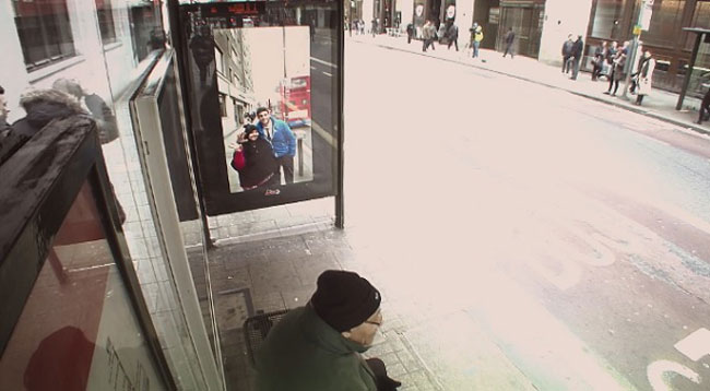 Pepsi Pranks People At A Bus Stop With A Digital Billboard 6