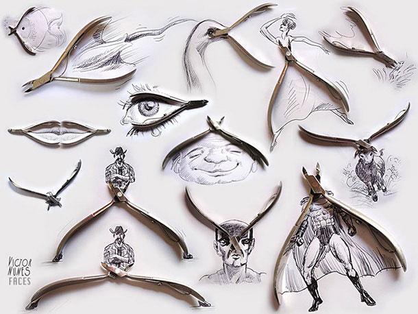 無所不在的藝術: Victor Nunes 利用生活用品設計各類3D 藝術作品 10
