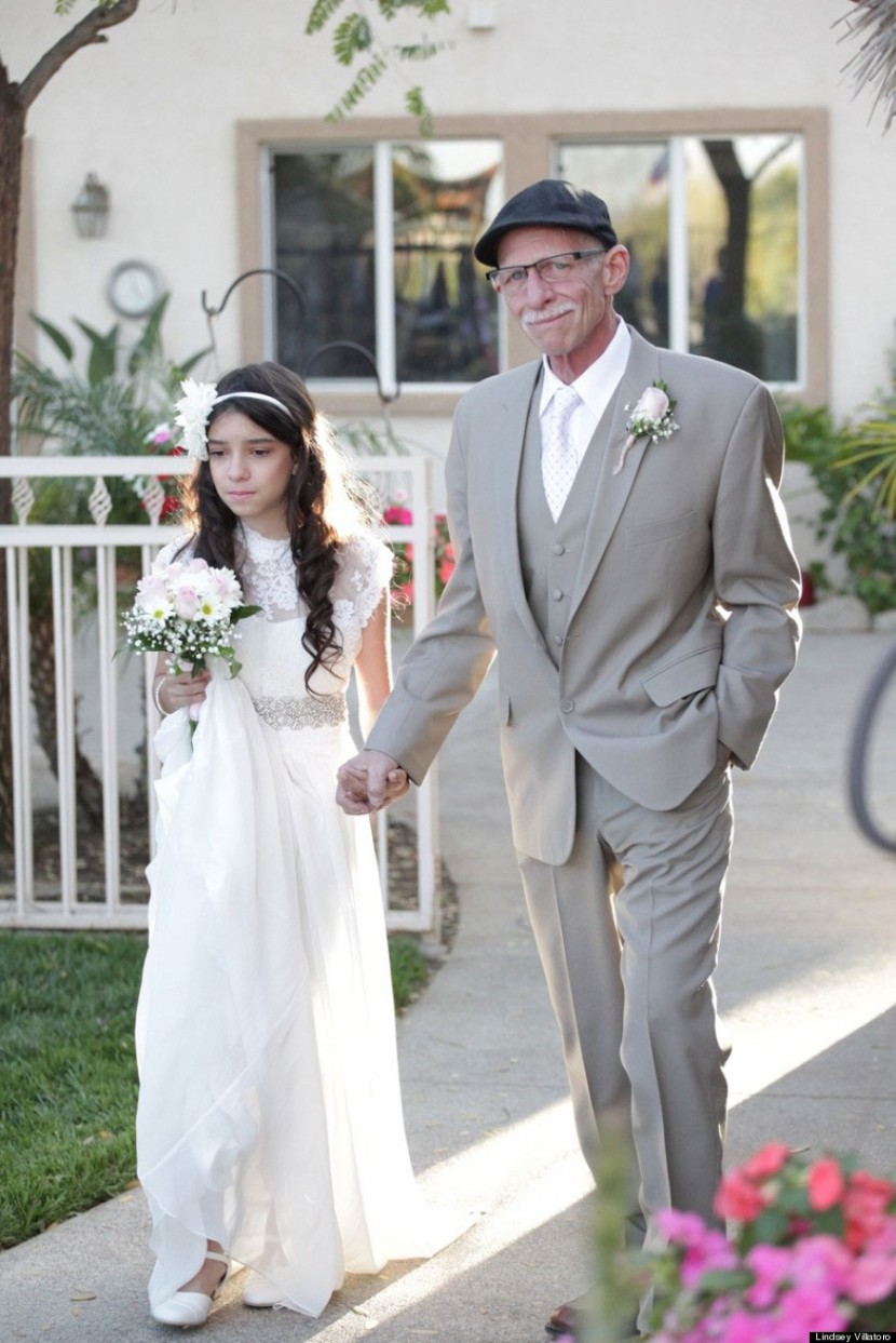 Cancer-Stricken Dad Walks 11-Year-Old Down The 'Aisle' Because He Won't Be There For The Real Thing 1