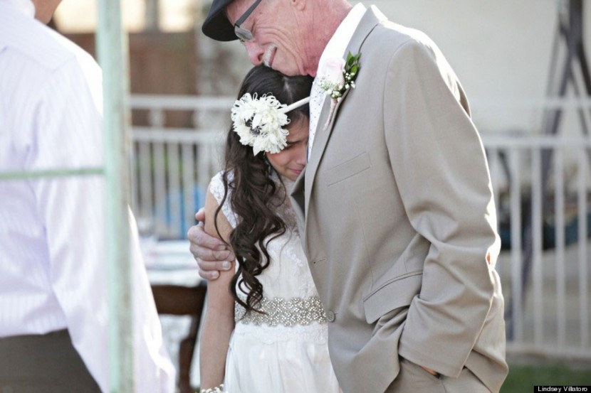 Cancer-Stricken Dad Walks 11-Year-Old Down The 'Aisle' Because He Won't Be There For The Real Thing 2