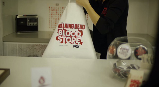 A 'Walking Dead' Pop-Up Store Where Customers Pay With Their Blood 7