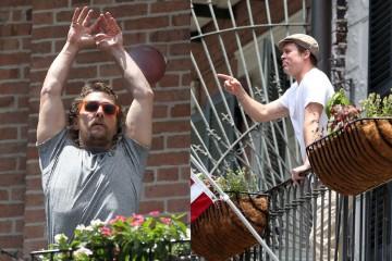 "Brad Pitt露台休息,發覺對街 ""鄰居"" 竟然是..."
