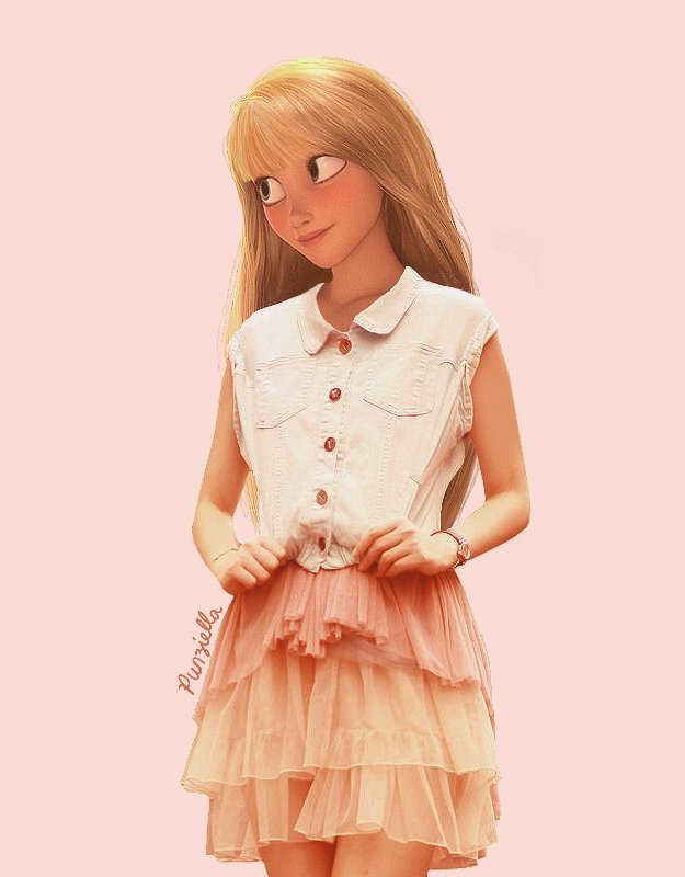 Disney Characters Would Look Like In The Modern World 1