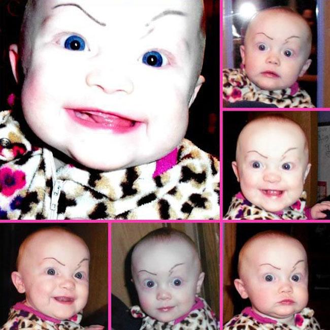 畫眉不再是成年人的專利!網絡掀起為嬰兒畫眉的新熱潮 11