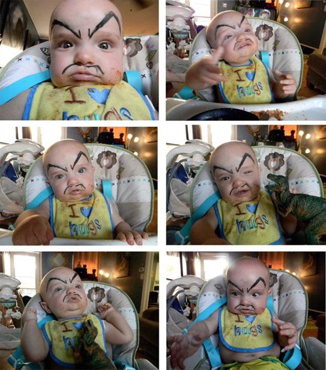 畫眉不再是成年人的專利!網絡掀起為嬰兒畫眉的新熱潮 12
