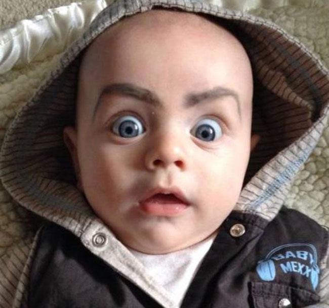 畫眉不再是成年人的專利!網絡掀起為嬰兒畫眉的新熱潮 13