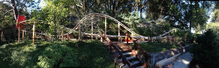 Loving Dad Builds An Awesome 180-Foot-Long Roller Coaster For His Children 6