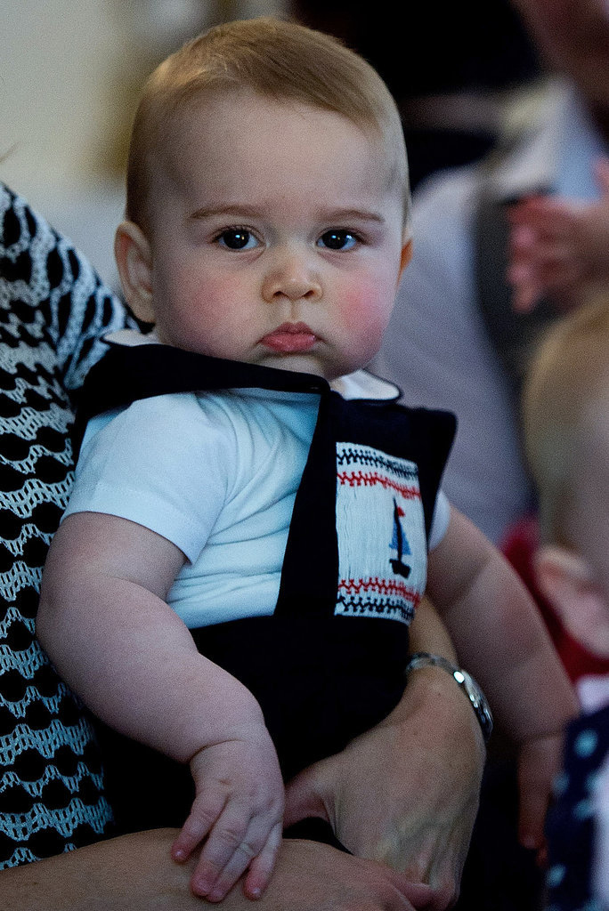 Prince George's Facial Expressions Just Like the Royals 11