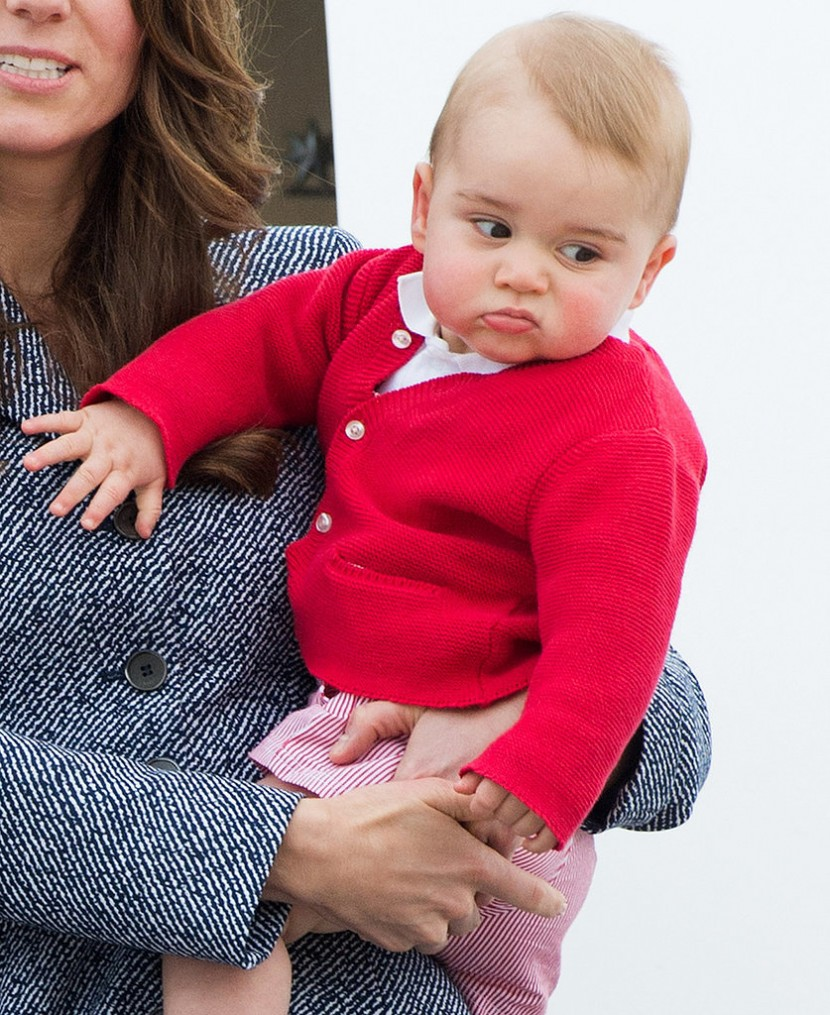 Prince George's Facial Expressions Just Like the Royals 15