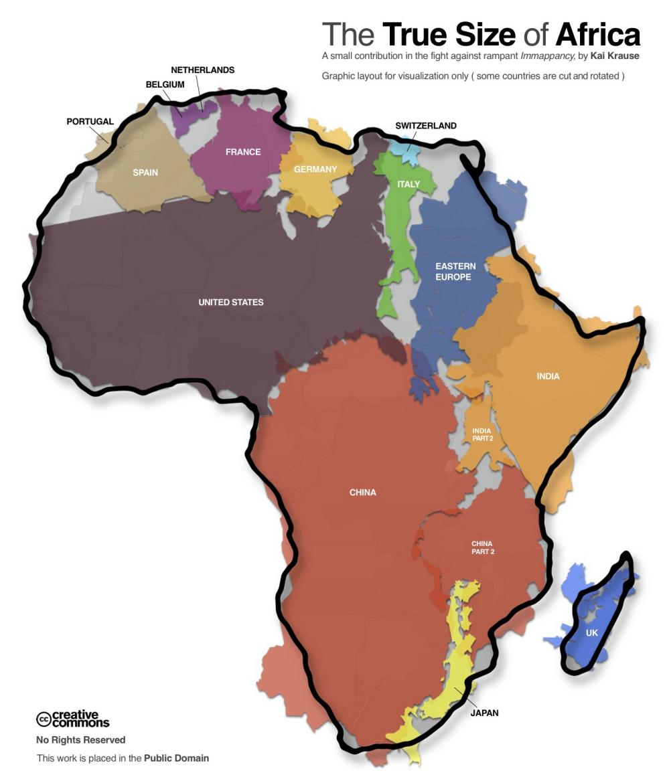 原來我們都被地圖誤導了!非洲大陸的真實秘密 1
