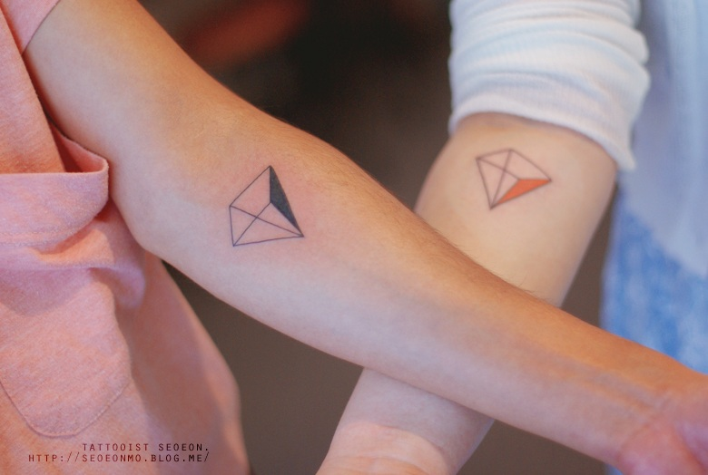 adorable Miniature Tattoos Of Block Shapes And Symbols Made With Lines 22