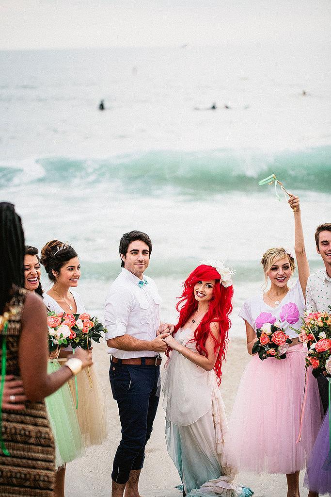 看完這個小美人魚Ariel主題的浪漫婚禮,你也會想擁有一個迪士尼式的童話婚姻 18