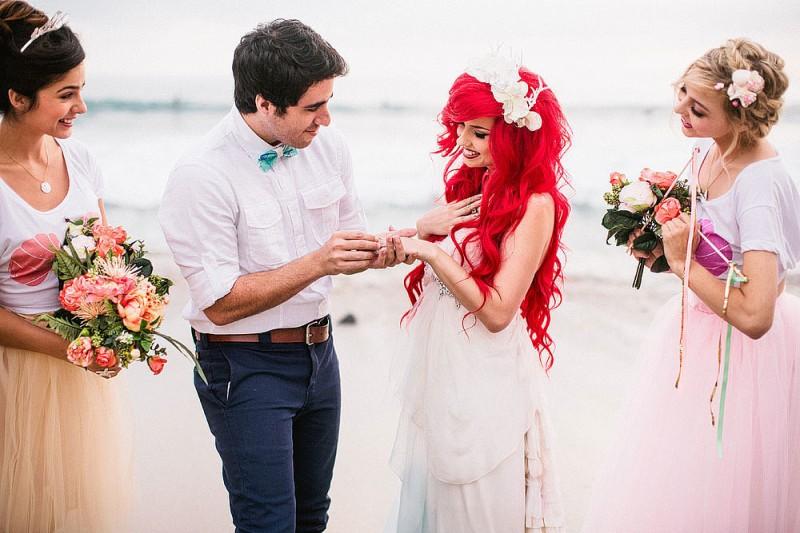 看完這個小美人魚Ariel主題的浪漫婚禮,你也會想擁有一個迪士尼式的童話婚姻 19