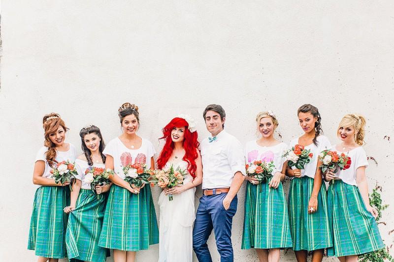 看完這個小美人魚Ariel主題的浪漫婚禮,你也會想擁有一個迪士尼式的童話婚姻 28