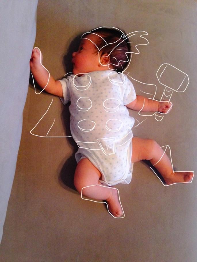 Creative Dad Sketches His Newborn Son On Fun 'Adventures'  1