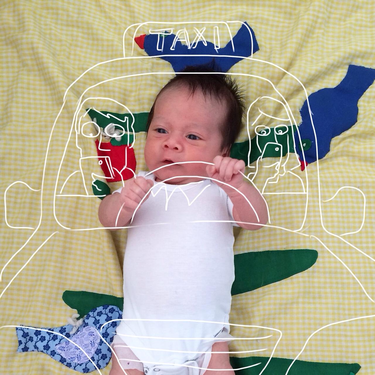 Creative Dad Sketches His Newborn Son On Fun 'Adventures'  13