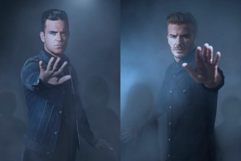 David Beckham and Robbie Williams unicef 1