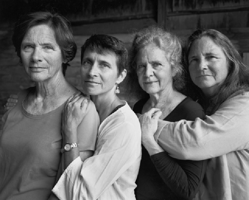 forty year portrait of 4 women 3