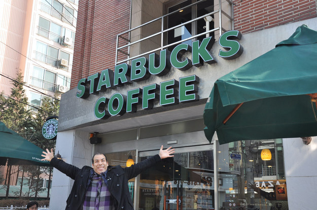 guy trying Visit Every Starbucks On Earth 4