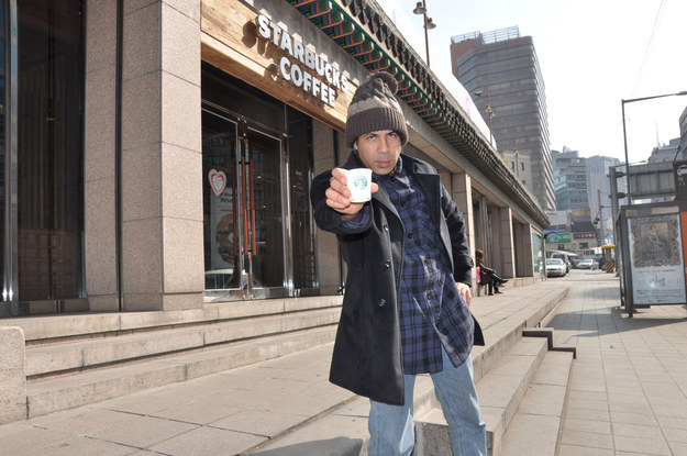 guy trying Visit Every Starbucks On Earth 5
