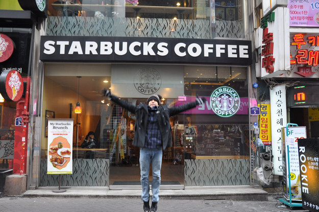guy trying Visit Every Starbucks On Earth 6