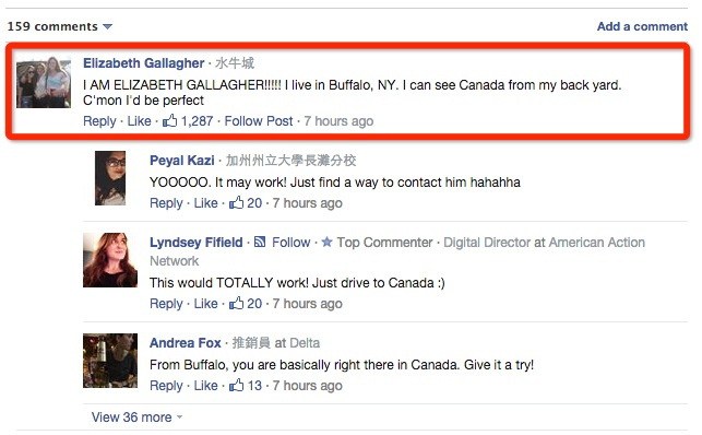 只要你名叫「Elizabeth Gallagher」,帥哥免費送你環球旅遊機票 1