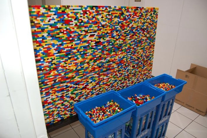 Genius Builds An Entire Wall Of Legos In His House, And It's Awesome 1