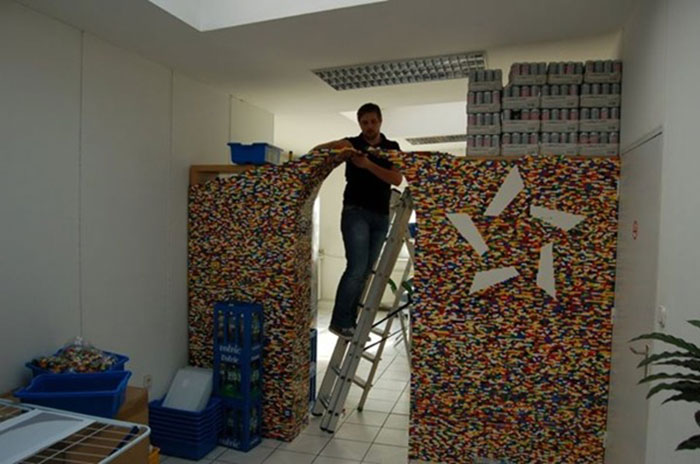 Genius Builds An Entire Wall Of Legos In His House, And It's Awesome 3