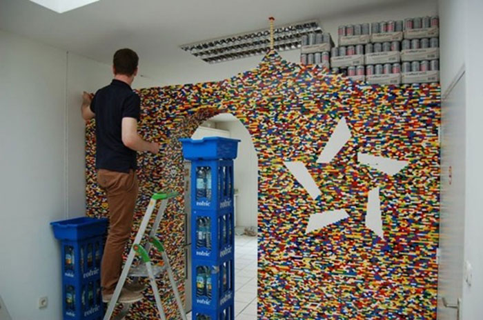 Genius Builds An Entire Wall Of Legos In His House, And It's Awesome 4