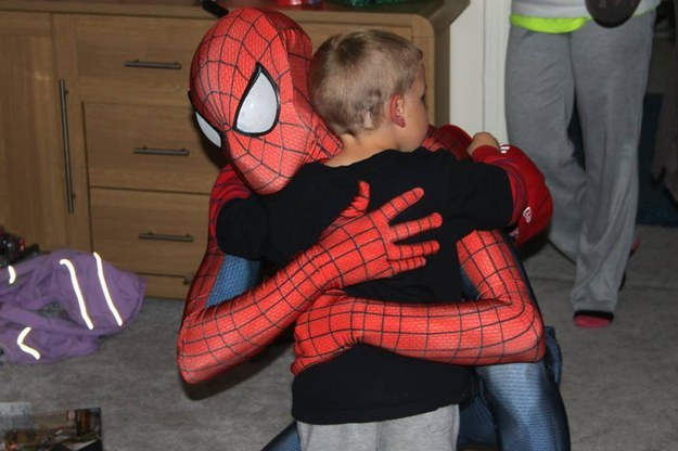 This Dad Dressed Like Spiderman To Surprise His Son 1