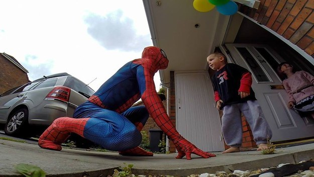 This Dad Dressed Like Spiderman To Surprise His Son 2