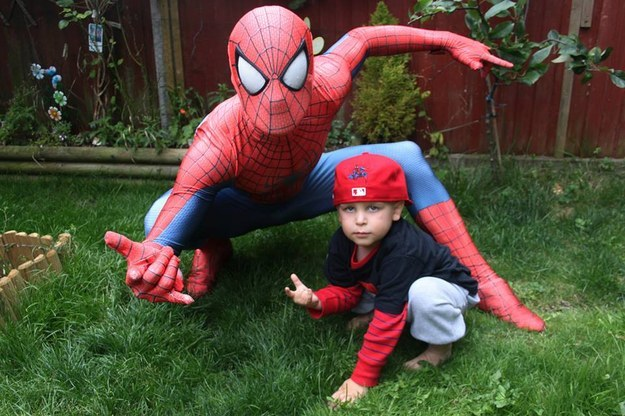 This Dad Dressed Like Spiderman To Surprise His Son 3
