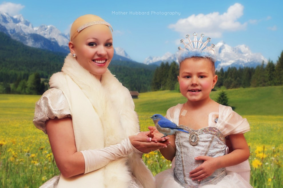 A Bald Cinderella Gave A Little Girl With Cancer Surprise 2