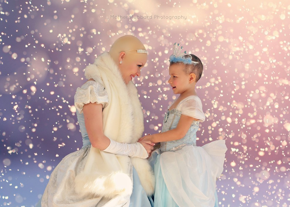 A Bald Cinderella Gave A Little Girl With Cancer Surprise 3
