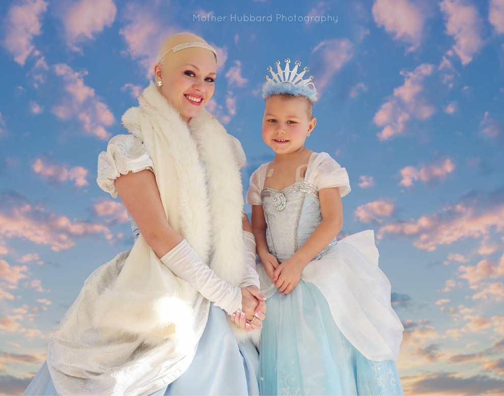 A Bald Cinderella Gave A Little Girl With Cancer Surprise 6