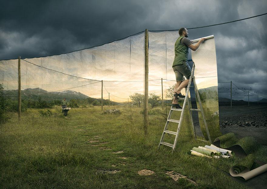 Mind-Bending Optical Illusions By Swedish Photoshop Master Erik Johansson 3