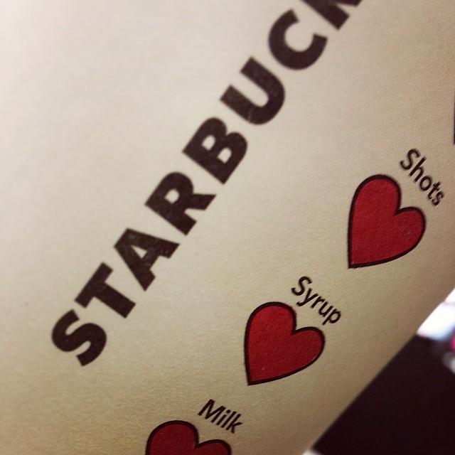 Starbucks Adds Sweet Heart Symbols for Valentine's Day 1