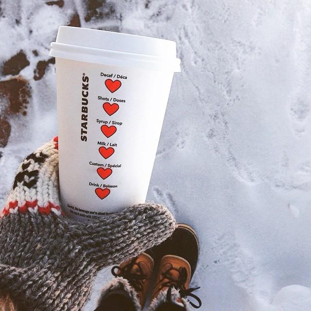 Starbucks Adds Sweet Heart Symbols for Valentine's Day 8