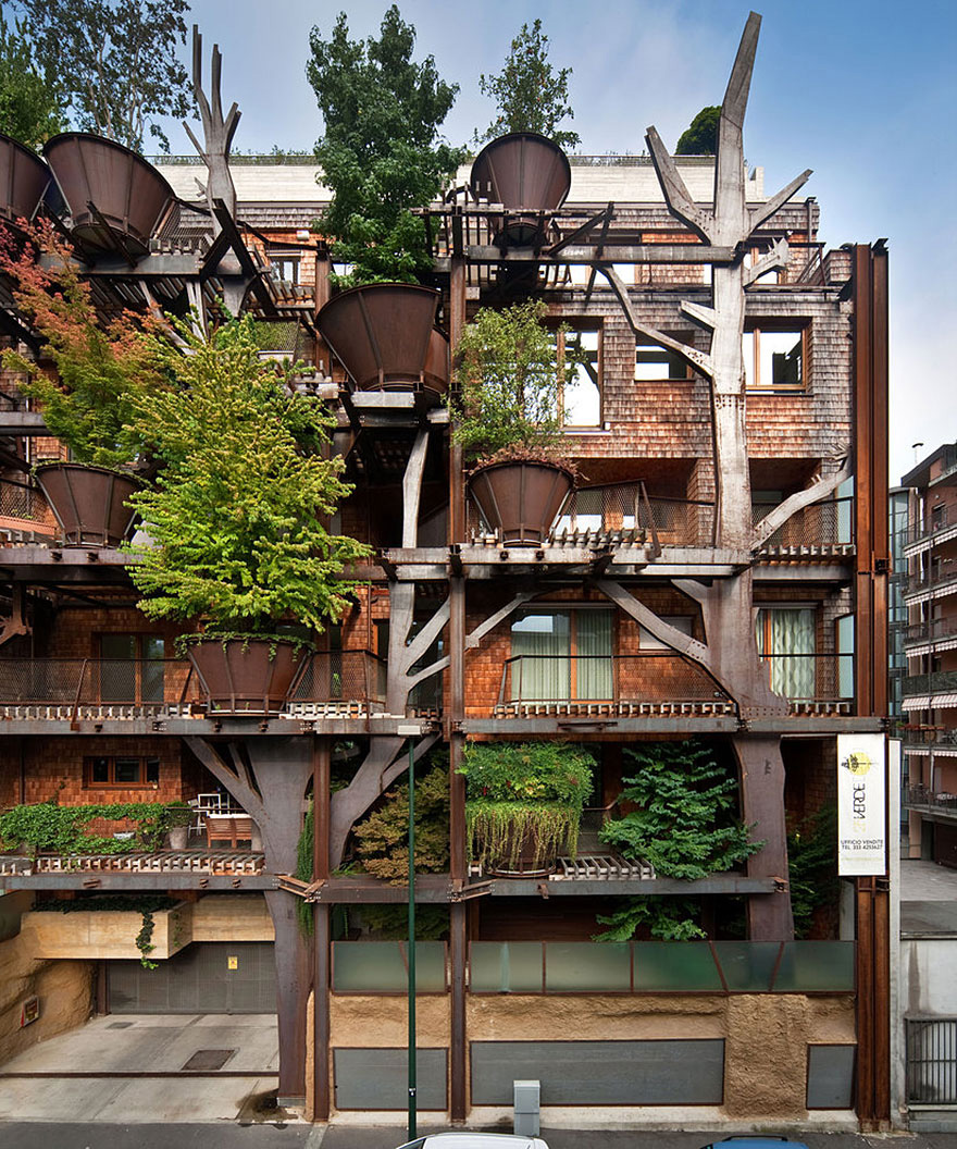 Urban Treehouse Uses 150 Trees To Protect Residents From Noise And Pollution 2